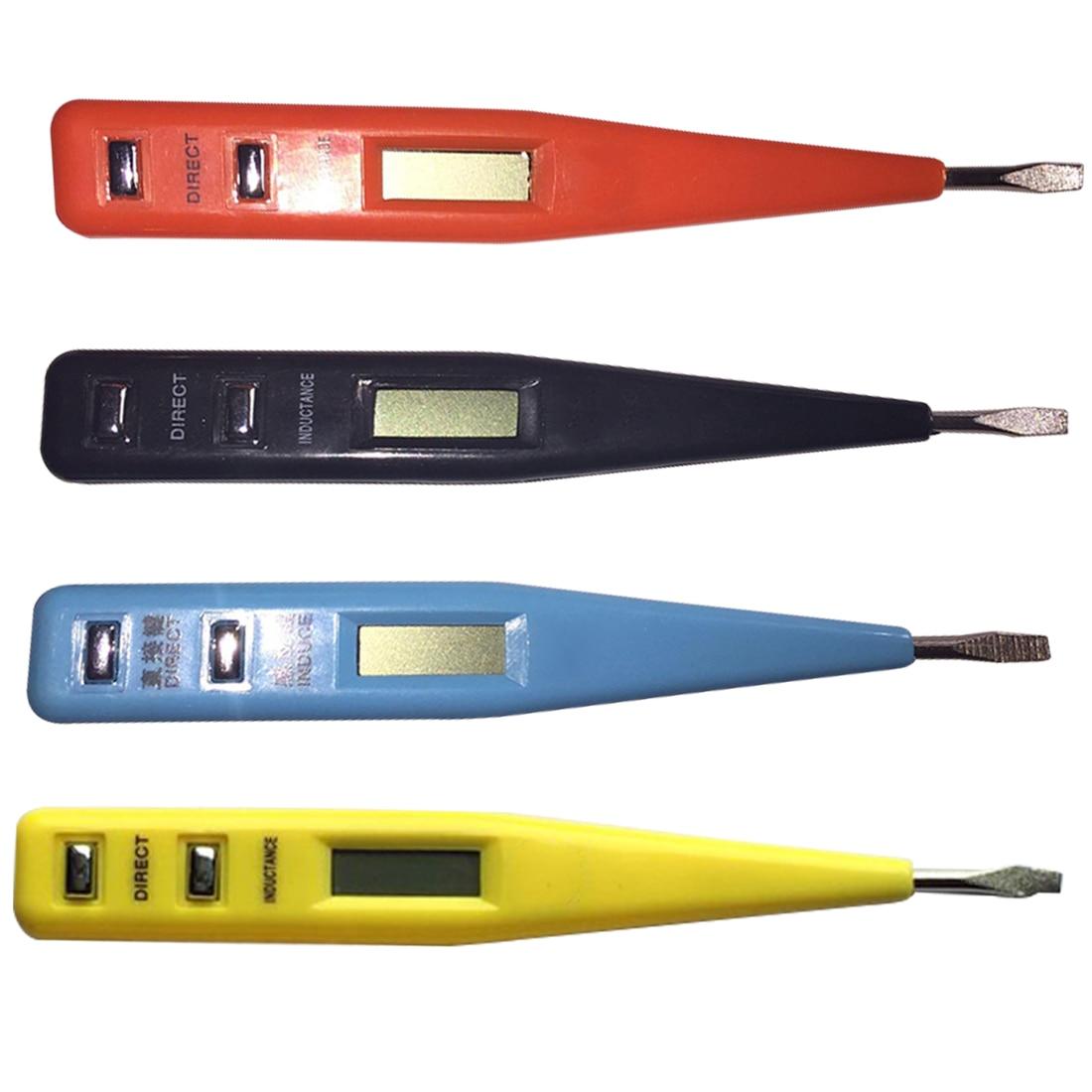 AC DC 12-250V Multi-Sensor Electrical LCD Display Voltage Detector Test Pen Digital Test Pencil Multifunction Random Color