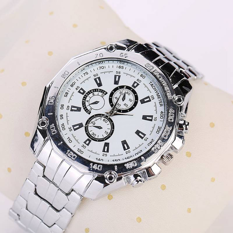 3 colors New Arrive Business Women's Men's Watches Stainless Steel Wristwatch Men Electronics Quartz Watch