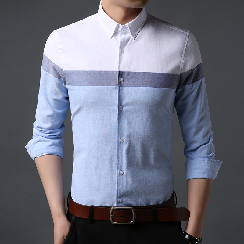 2019 New Fall Fashion Brand Shirt Man Japanese Workout Slim Fit Street Wear Long Sleeve Cotton High Quality Casual Mens Clothing