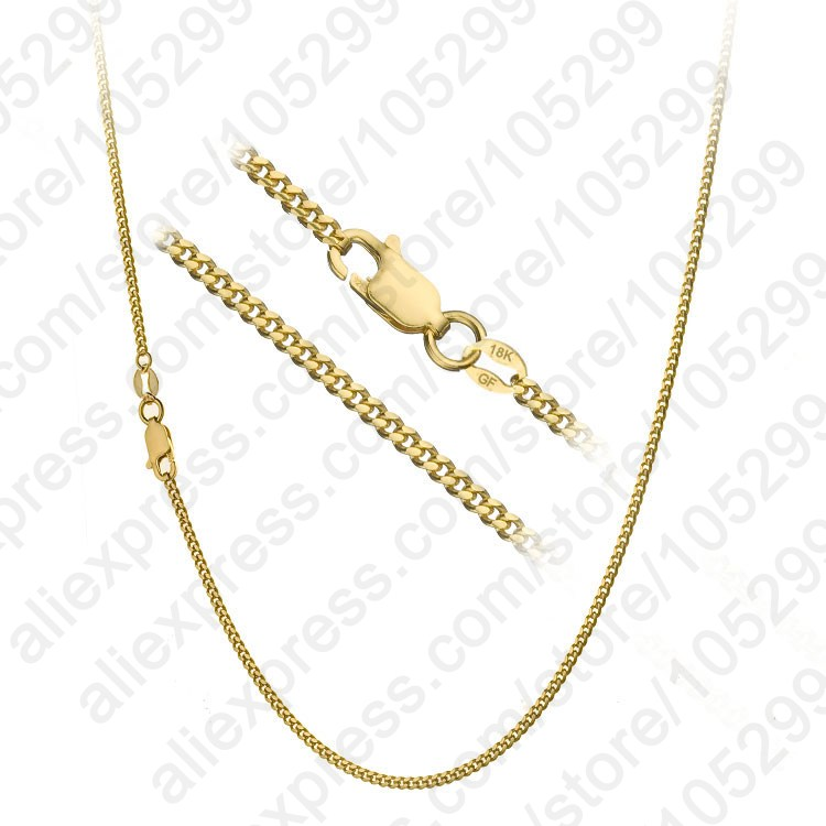 "1PC free shipping Gold Filled Necklace With Big Discount, 16""-30""Popular Flat Curb Chains Jewelry For Pendant"