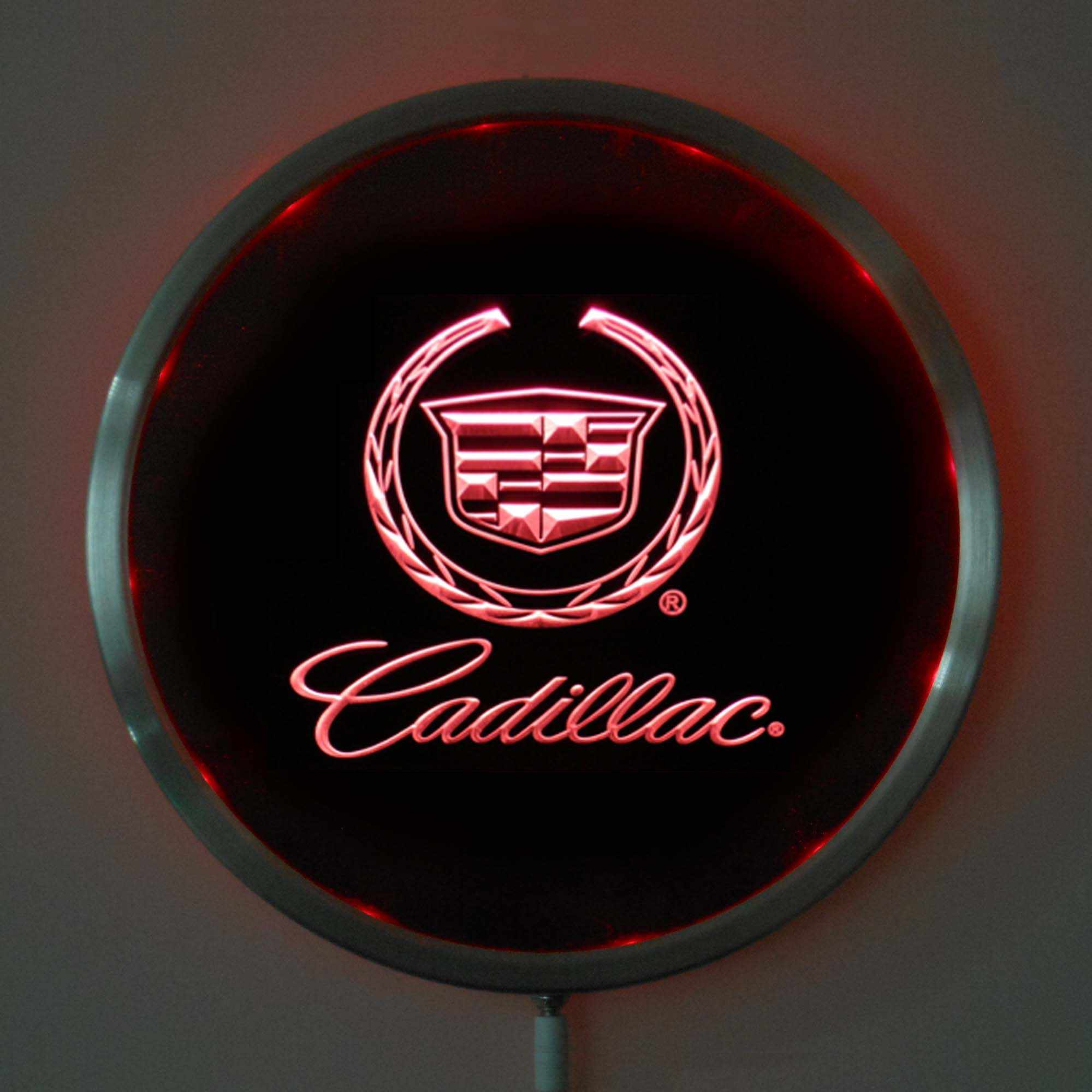 Rs-d0041 Cadillac LED Neon Licht Ronde Signss 25 cm/10 Inch-Bar Borden met RGB Multi-color remote Wireless Control Functie