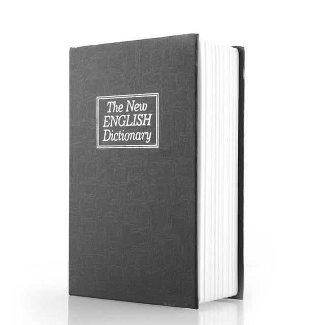 Deluxe Preto Segredo Dicionário Livro Cofre de Segurança Caixa De Dinheiro Escondido Cofre caixa de Fechadura com Chave de Bloqueio