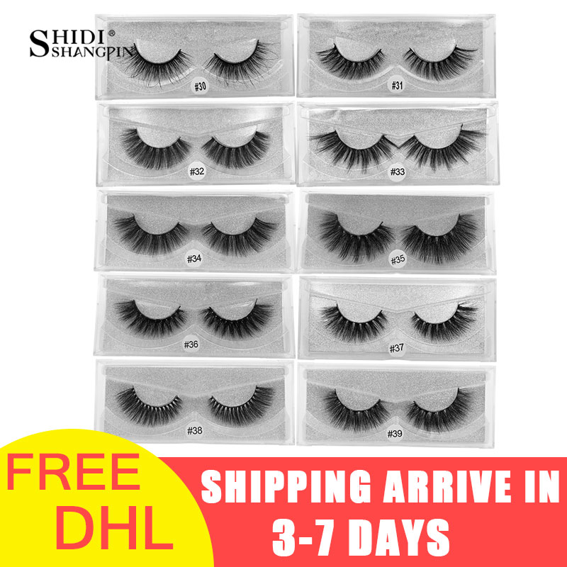 LANJINGLIN wholesale 50 pairs free DHL natural long false eyelashes cruelty free 3d mink lashes makeup