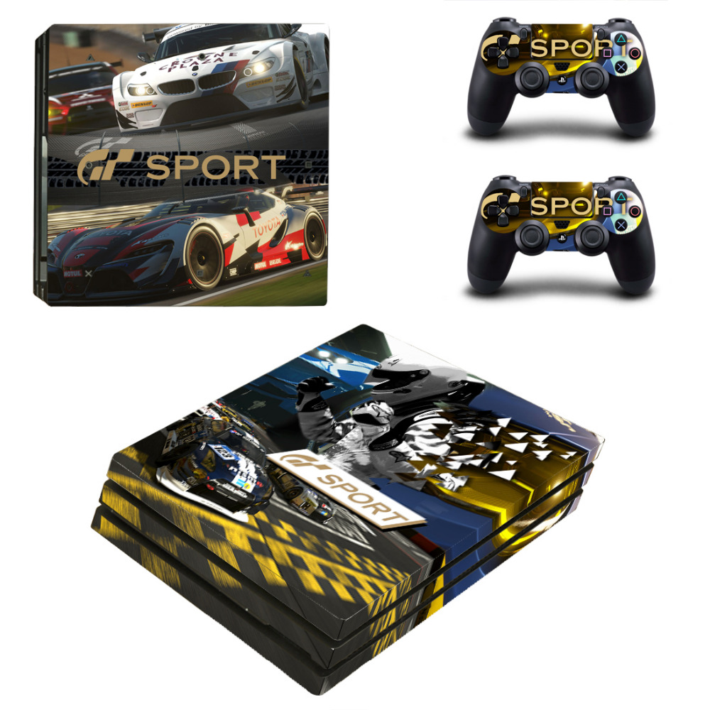 gran turismo sport gt sport ps4 pro skin sticker for sony playstation 4 console and 2. Black Bedroom Furniture Sets. Home Design Ideas