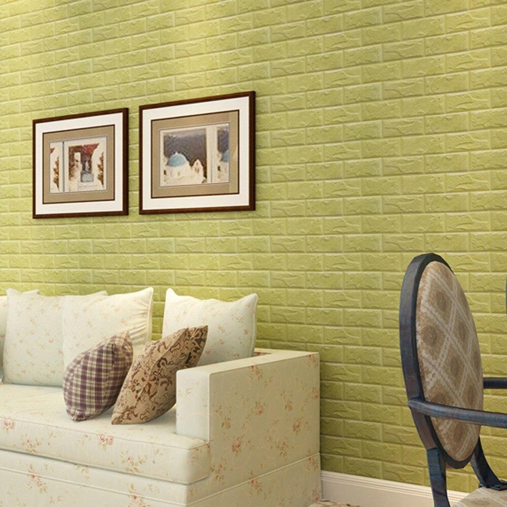 PE Foam 3D Wall Stickers Wallpaper DIY Wall Decor Embossed Brick ...