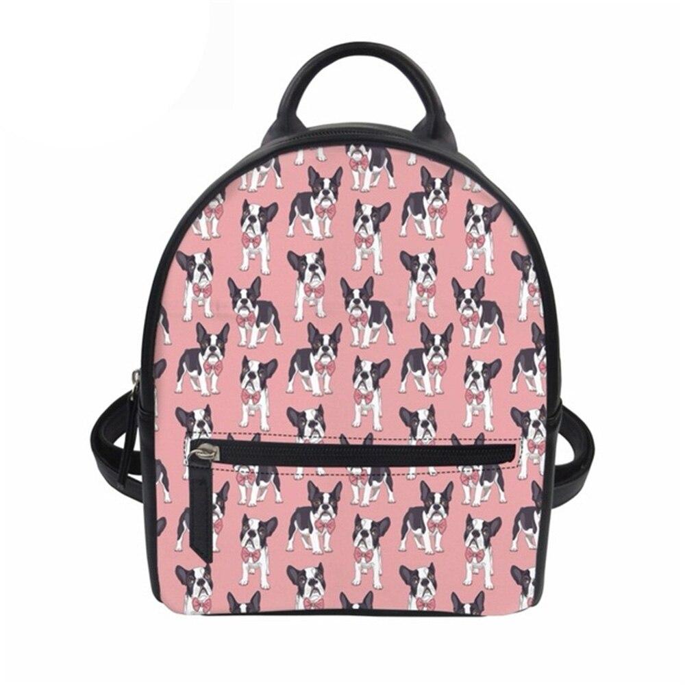 Feminine Backpack Travel Backpack Animal Puzzle Prints Teen Girls School Bagpack Ladies Rucksack Female Mini Daily Bag