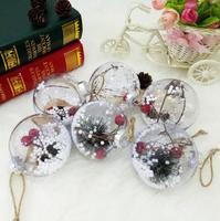 Let S Make 10PCS Children Toys Christmas Decoration Plastic Ball Baby Room Decor DIY Accessories Birthday