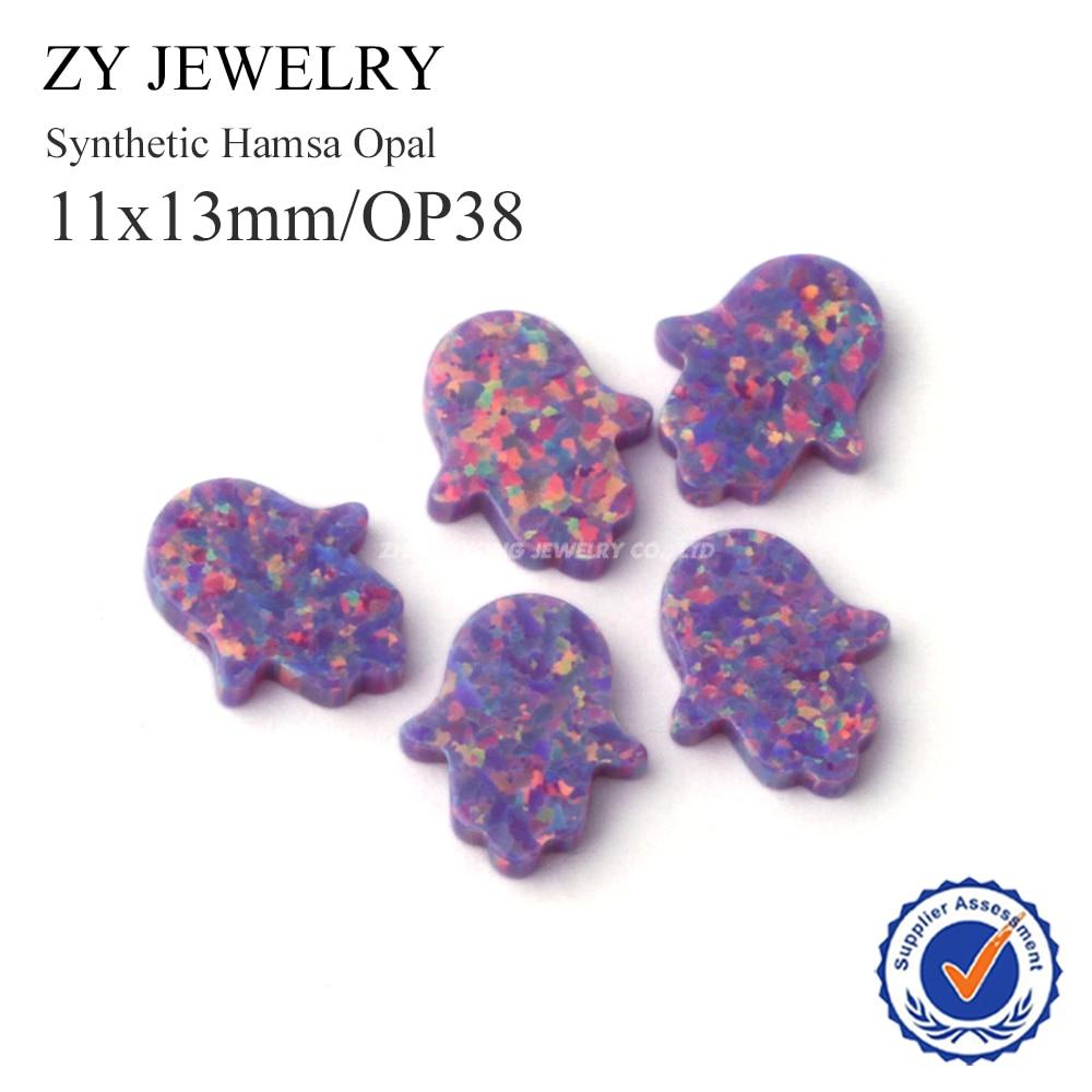 Beads Beads & Jewelry Making Fashion 11x13mm/op38 Hamsa Hand Opal Pendant High Quality Fatima Hand Synthetic Opal Beads For Diy Jewelry
