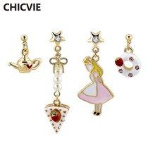 Chicvie новый дизайн Мультяшные серьги капли для девушек женщин