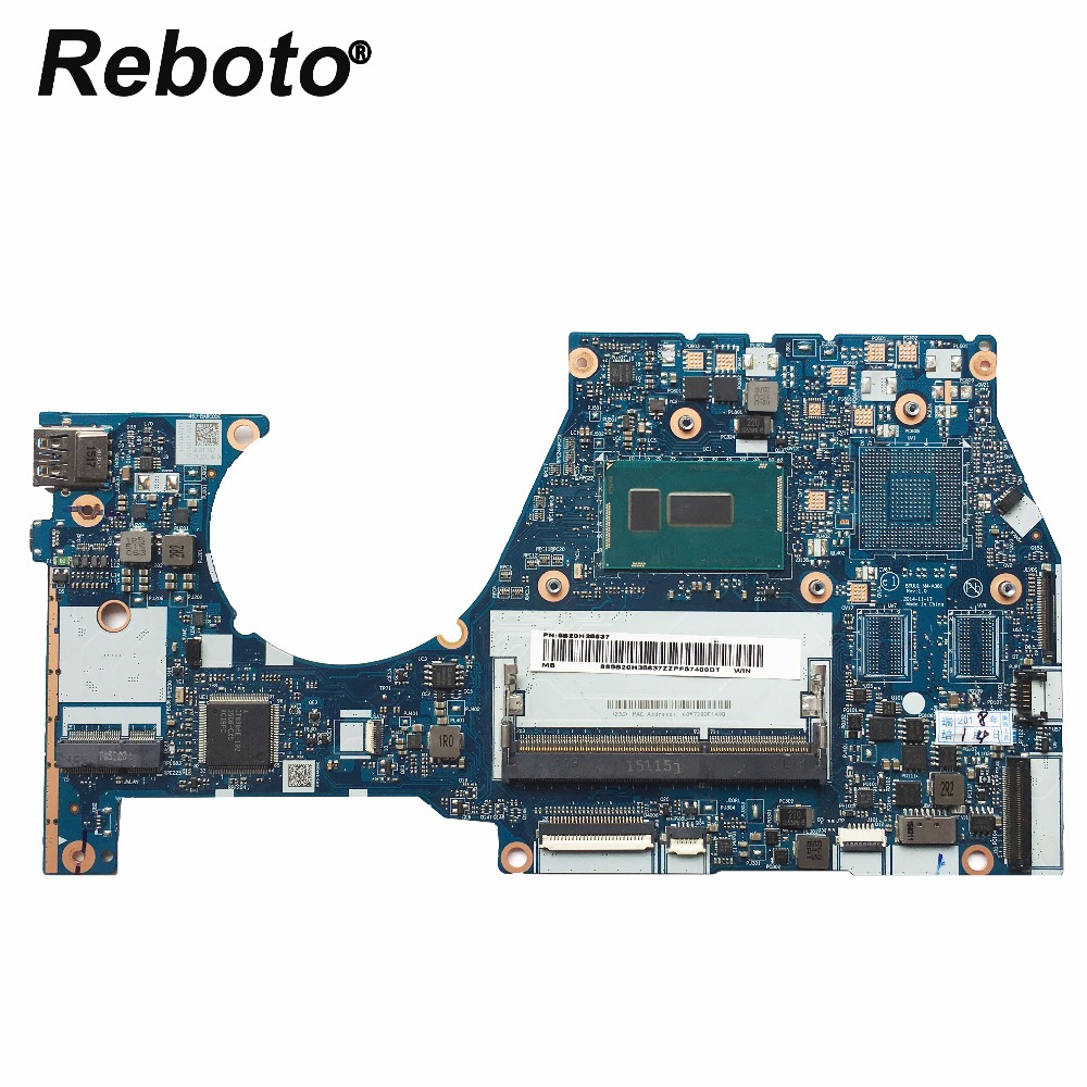 Reboto High quality FOR Lenovo YOGA3 14 Laptop motherboard 5B20H35637 NM A381 i5 5200U 2 2