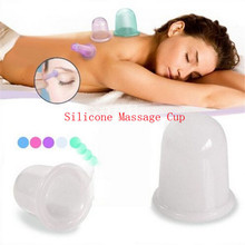 Silicone Cupping Tool Deep Tissue Vacuum Massage Fat Cellulite Therapy Cup full Body Massager Helper