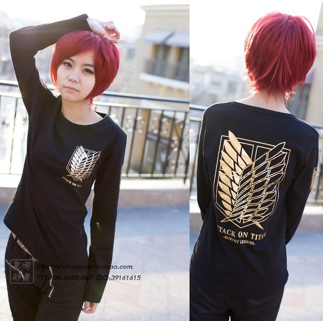Attack On Titan Long Sleeve Gold Badge Sweatshirt
