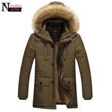 f8d41262df25e Newbestyle 2018 veste d hiver hommes Design chaud épaissir manteaux mâle  nouvelle mode col de fourrure à capuche Parkas hommes c.