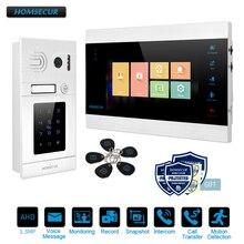 """HOMSECUR 7 """"สาย AHD1.3MP วิดีโอประตูโทรศัพท์ระบบ RFID รหัสผ่าน, การบันทึก & Snapshot (BM705HD B + BC071HD S)"""