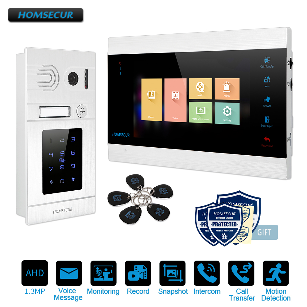 HOMSECUR 7 Wired AHD1.3MP Video Door Entry Phone Call System with RFID Password Access, Recording&Snapshot(BM705HD-B+BC071HD-S)HOMSECUR 7 Wired AHD1.3MP Video Door Entry Phone Call System with RFID Password Access, Recording&Snapshot(BM705HD-B+BC071HD-S)