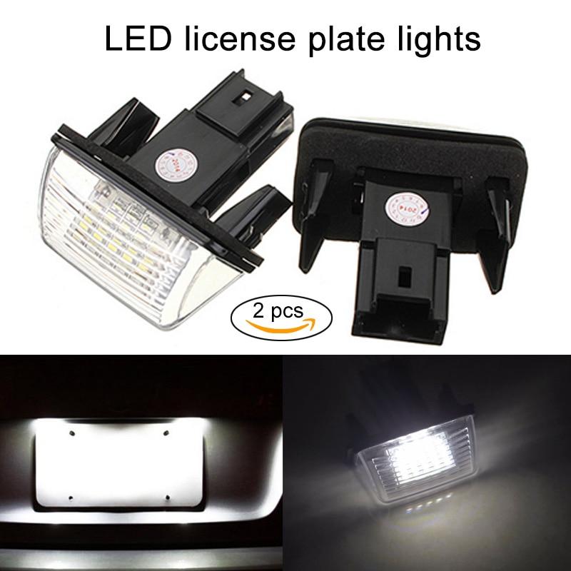Nouveau 2 Pcs/ensemble De Voiture LED Plaque D'immatriculation de La Lampe Ampoules pour Peugeot Citroen Tipi B9 Partenaire Berlingo DXY88