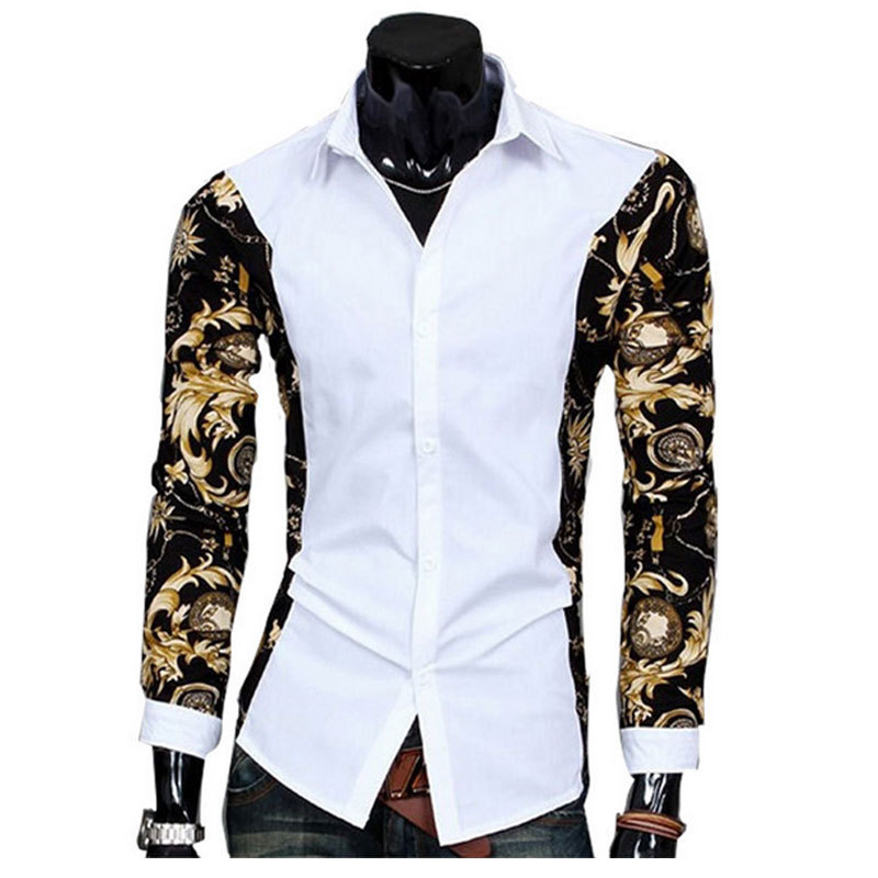 Buy Camisas Fashion Design Slim Fit Men