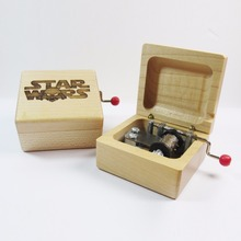 Handmade Wooden Star Wars Music Box