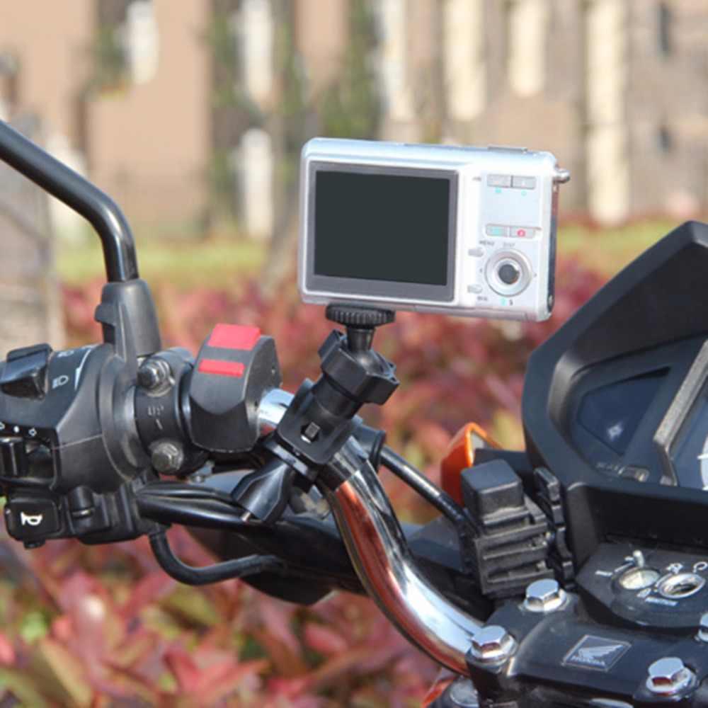 1 единиц, велосипед велосипедный мотоцикл велосипедный держатель для камеры штатив монтажного зажима для камеры видеокамеры Горячий Поиск