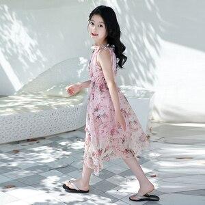 Image 4 - Letnia dziewczęca sukienka na ramiączkach na ramiączkach sukienki na plażę czeska sukieneczka dla dzieci Floral nastoletnie dziewczyny letnie ubrania 6 8 10 12 14 rok