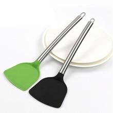 Кухонная лопатка ПОСУДА антипригарная силиконовая нержавеющая сталь Ручка ложка совок Тернер кухонные инструменты для приготовления пищи