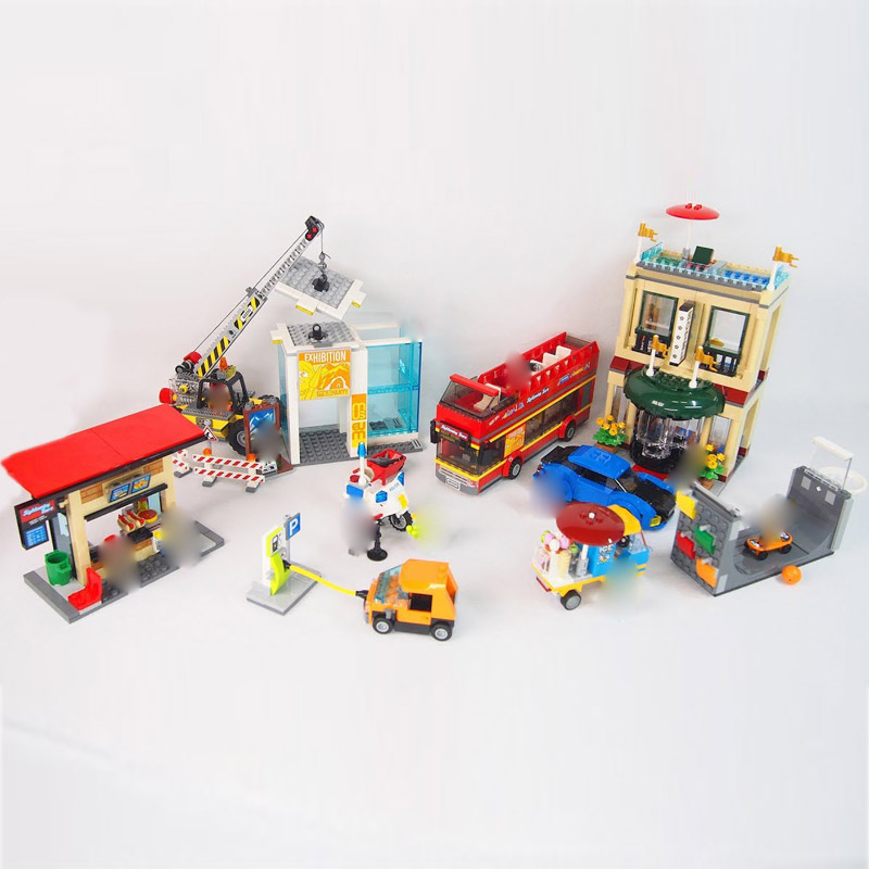 Lepin 02114 City Series Cat Toys Compatible legoingly 60200 Capital City Set Building Blocks Bricks Car Model Kids Birthday Gift