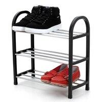 Schuhe regal Einfach Montiert Licht Kunststoff 3 Tier Schuhregal Regal Veranstalter Ständer Halter Halten Zimmer Ordentlich Tür Raum Saving