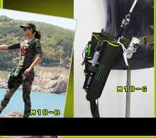 Portable Waist Fishing Bags fishing tackle bag Waterproof Nylon Large Capacity Multifunctional 33x19x16cm B292