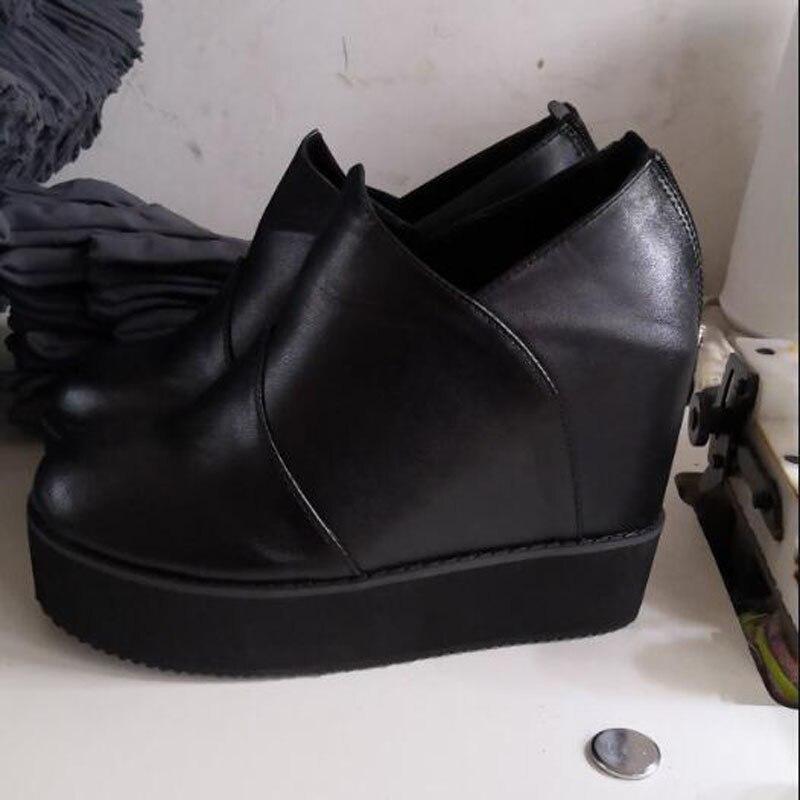 Hauteur New Haute Plat Rhinestone black Dx313 Des 12 Croissante Femme Bottes Cm Strass Chaussures Spring Plate Martion 2019 Femmes forme Black Noir Talons rqrPv