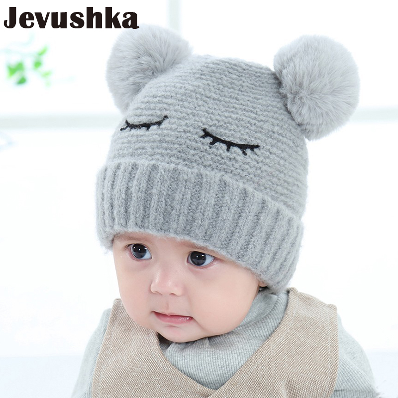 Winter Baby Hat Pompom Hats Newborn Photography Props Knit Beanie Baby Girl and Boy Caps