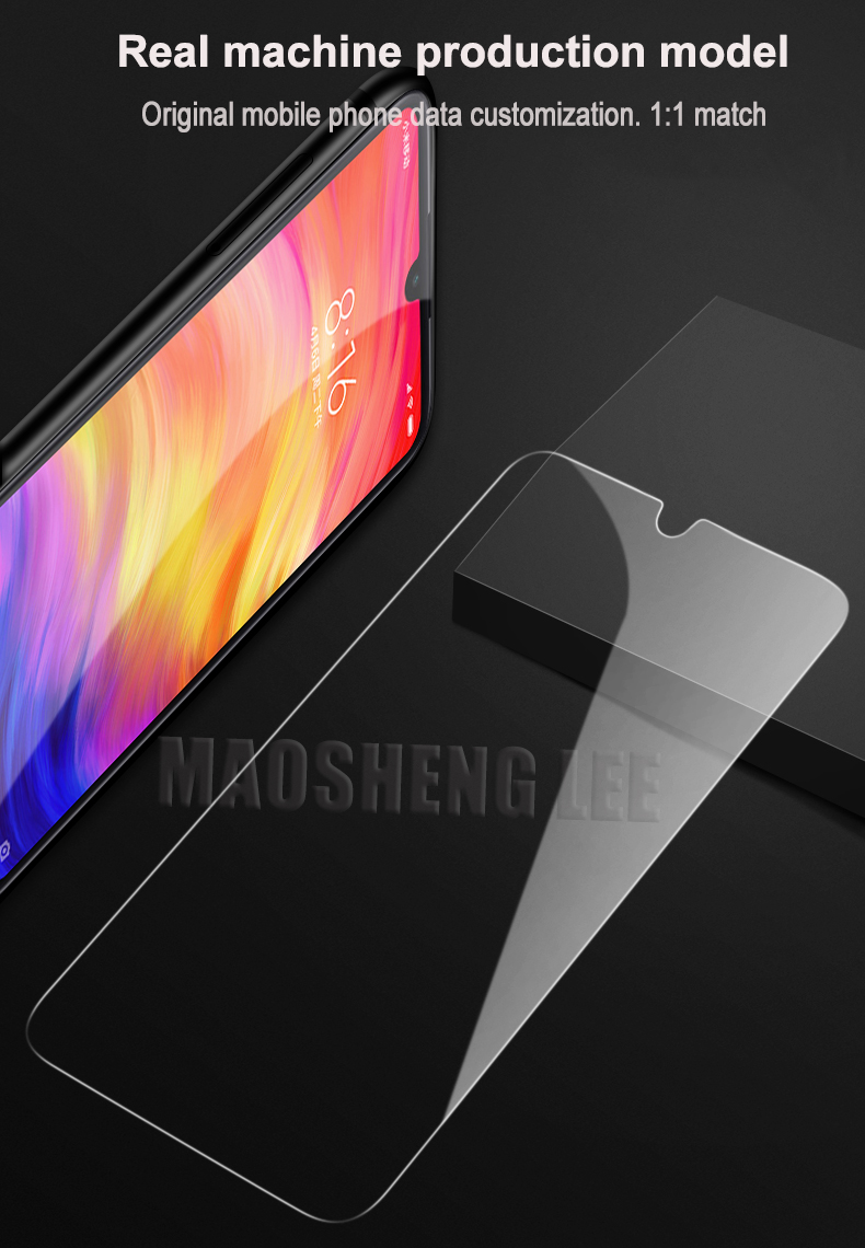 Image 3 - 2Pcs/lot Tempered Glass For Xiaomi Redmi Note 7 6 Pro Note 5 Glass Screen Protector Anti Blu ray Glass For Xiaomi Redmi note 7-in Phone Screen Protectors from Cellphones & Telecommunications on