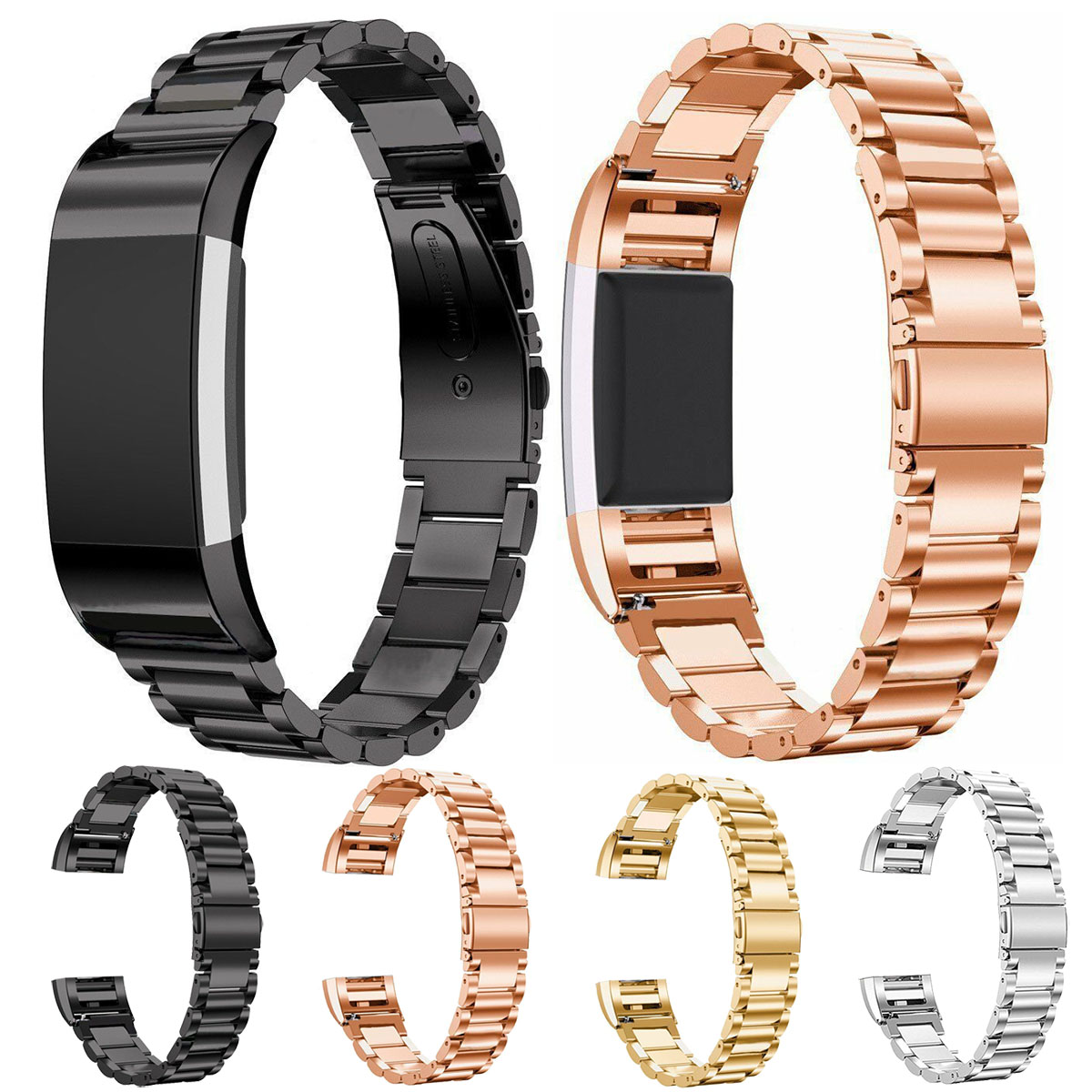 Essidi For Fitbit Charge 2 Stainless Steel Watch Strap Women Men Metal Smart Bracelet Strap Band For Fitbit Charge 2 Parts