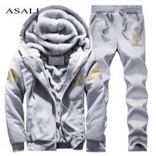 d433494babe0d8 Mens abbigliamento sportivo Set Inverno Casual Tuta Da Uomo Felpe Set Degli  Uomini di Marca di