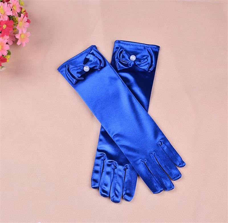 100 Paare/los Mode Stretch Satin Lange Handschuhe Für Kinder Abendgesellschaft Opera Gloves Mode Bekleidung Zubehör Für Mädchen Weitere Rabatte üBerraschungen