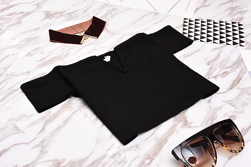 HTB1vVsrOFXXXXXtXVXXq6xXFXXXC - FREE SHIPPING Sexy V Neck Crop Top Short Sleeve Tube T Shirts JKP271