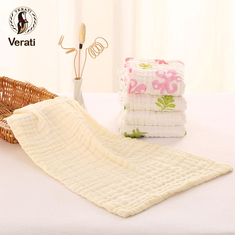 VERATI 2Pcs Cute Face Towel 100%Cotton Absorbent Drying Towel For Bathing Newborns Child Washcloth Kids Feeding Handkerchief