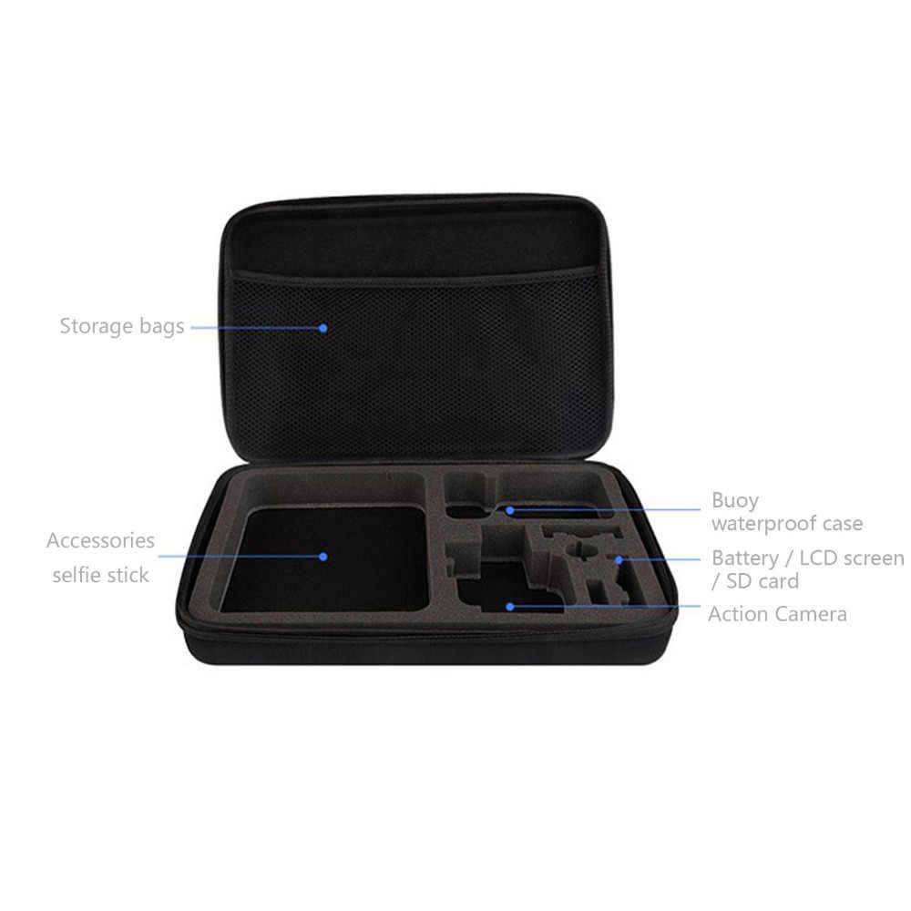 Gosear 32x22cm bolsa de almacenamiento impermeable portátil para GoPro Go Pro Hero 7 6 5 4 3 + 3 accesorios de Cámara de Acción