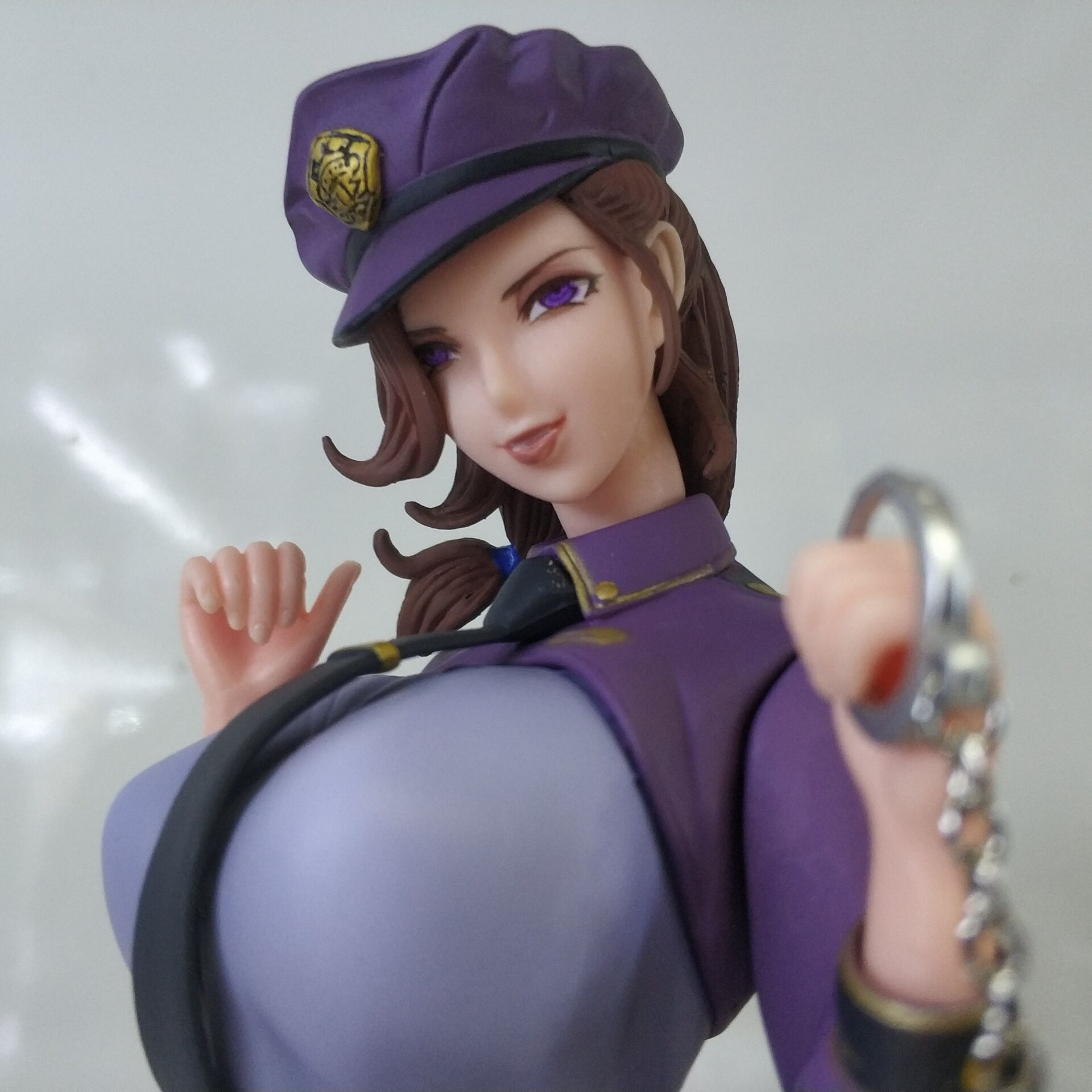 27CM Japanese sexy anime figure Kuji married policewoman ver action figure collectible model toys for boys japanese original anime figure lovelive sunshine watanabe you action figure collectible model toys for boys