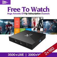 4K Movie X96 Android 6 0 Smart TV Box S905X IPTV 1 Year SUBTV IUDTV QHDTV