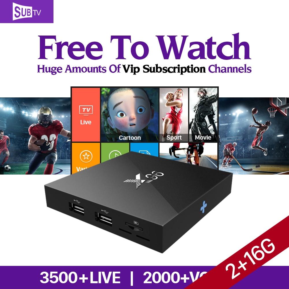 4K Movie X96 Android 6.0 Smart TV Box S905X IPTV 1 Year SUBTV IUDTV QHDTV Subscription PK X92 X98 Pro Arabic Europe IPTV Top Box movie iptv