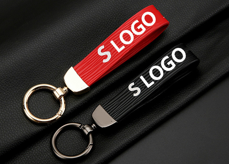 Fashion creative Current men and women Auto Leather keychain key ring key  chain For Ferrari Porsche Audi BWM car styling ec381f52e9