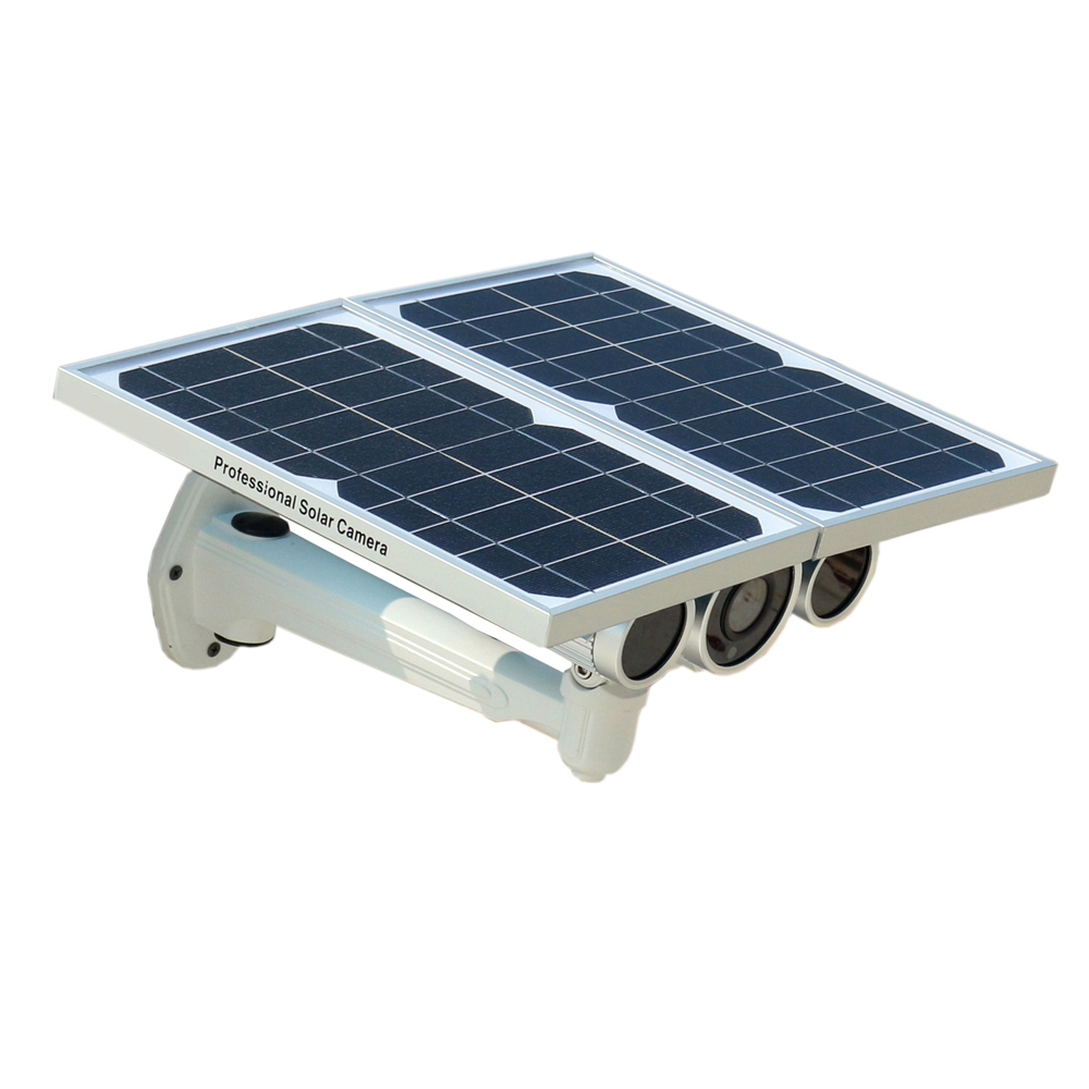 (1Set)New Solar Power WIFI ONVIF IP Camera with Night Vision Online Remote Monitoring by Free APP High Power Battery Solar Panel