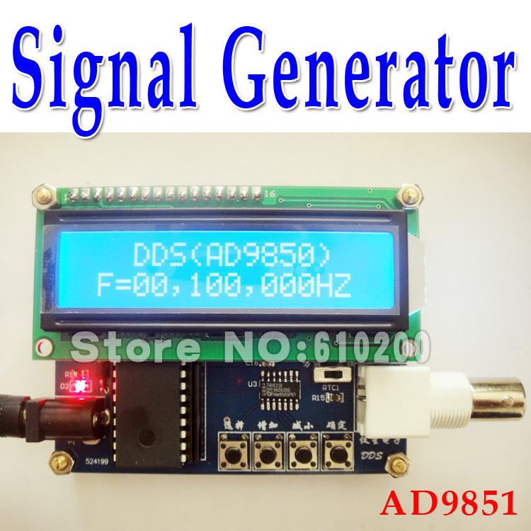Free Shipping,AD9851 DDS Generator,DDS signal generator module,2 sine wave(0~50MHz) and 2 square wave(0~7MHz) output produino ad9850 40mhz dds signal generator module blue