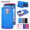 For LG G3 Case Durable Hybrid 2 in 1 With Card Storage Armor Hard Stand Holder Protective Case For Funda LG G3 Case Silicone