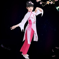 Chinese Dance costumes for girls stage wear chinese hanfu dress stage costume kids ancient chinese costume classical dance dress