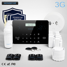 HOMSECUR Wireless&Wired LCD 3G/2G RFID Burglar Alarm System with Smoke Detector  LC03-3G