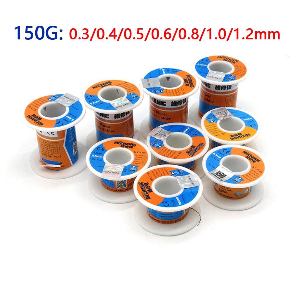 Сварочный припой MECHANIC 150g, проволока высокой чистоты для пайки с низким диапазоном 0,3/0,4/0,5/0,6/0,8/1,0 мм, Оловянно-сварочный ремонтный припой BGA