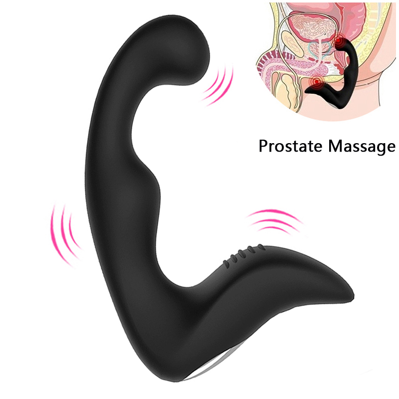 gelugee Male Prostate Massager Anal Vibrator Silicone 7 Speeds Butt Plug Sex Toys for Men Anal Toys Male Masturbator for Adult prettylove new 12 speeds prostate massager for men 3 speeds tickling prostata massage anal vibrator sex toys for men butt plug