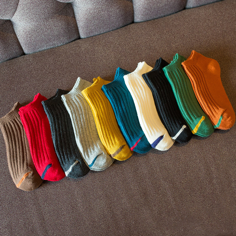 Socks men short A123 spring summer autumn cotton socks