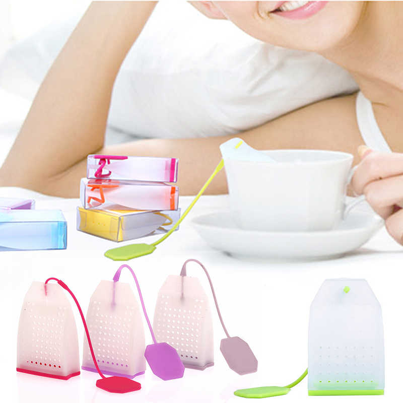 Tea Infuser Plunger Healthy Intense Flavor Reusable Tea Bag Plastic Tea&Coffee Strainer Measure Tools Kitchen Accessories